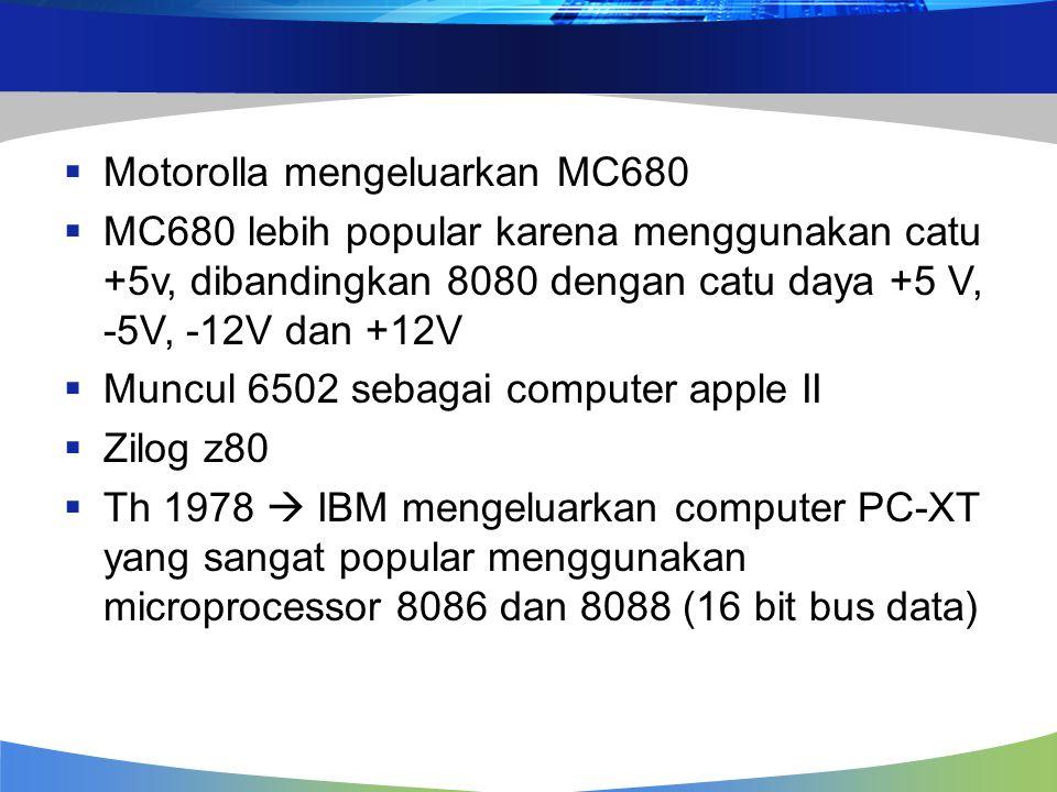 Motorolla mengeluarkan MC680