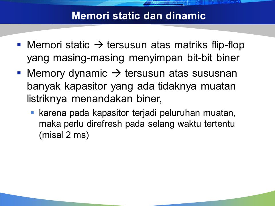 Memori static dan dinamic