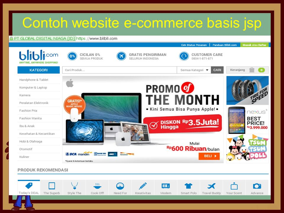 Contoh website e-commerce basis jsp