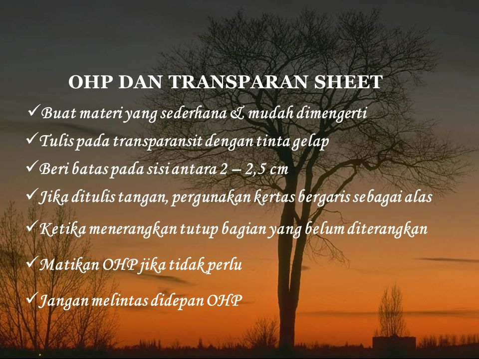 OHP DAN TRANSPARAN SHEET