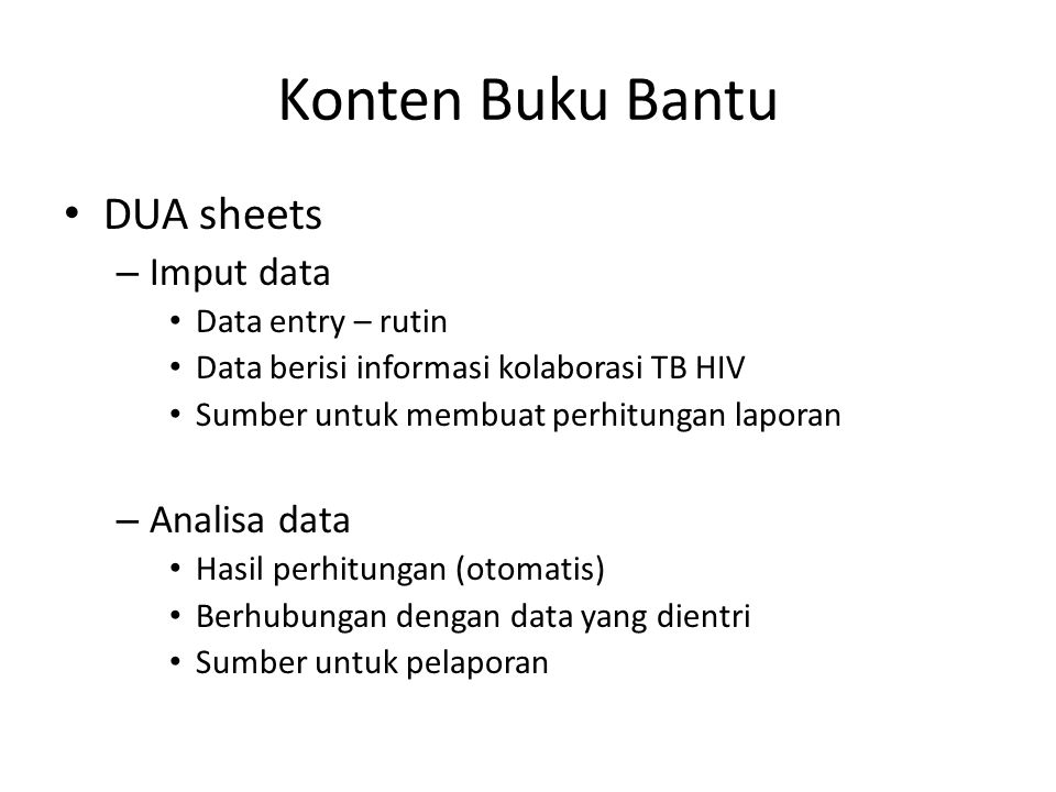 Konten Buku Bantu DUA sheets Imput data Analisa data