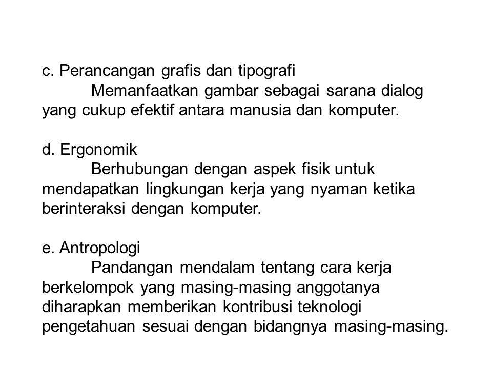 c. Perancangan grafis dan tipografi