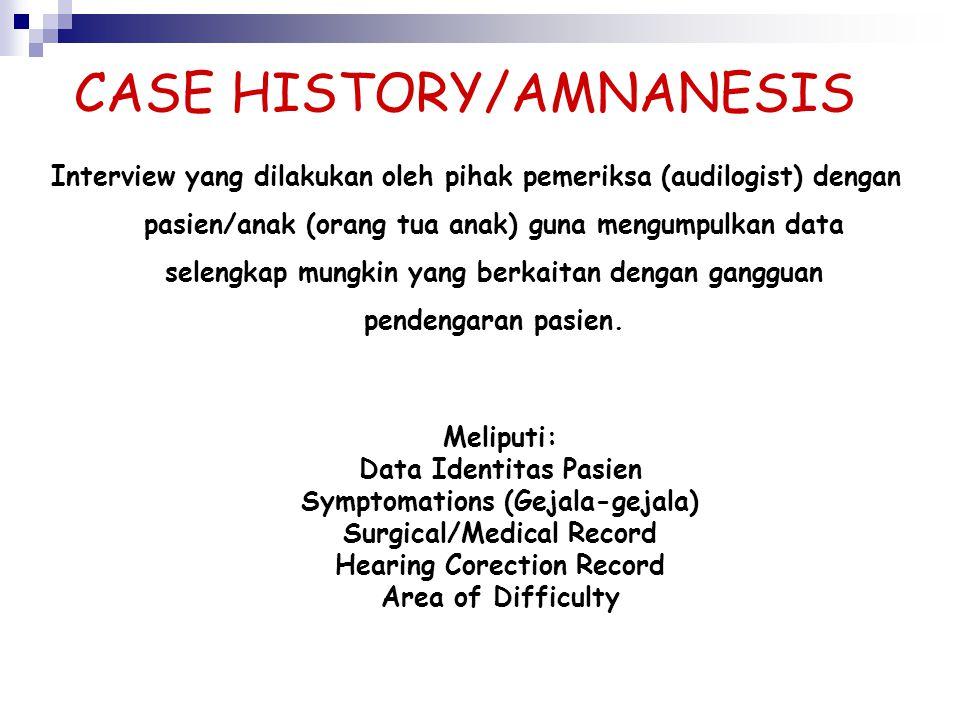 CASE HISTORY/AMNANESIS