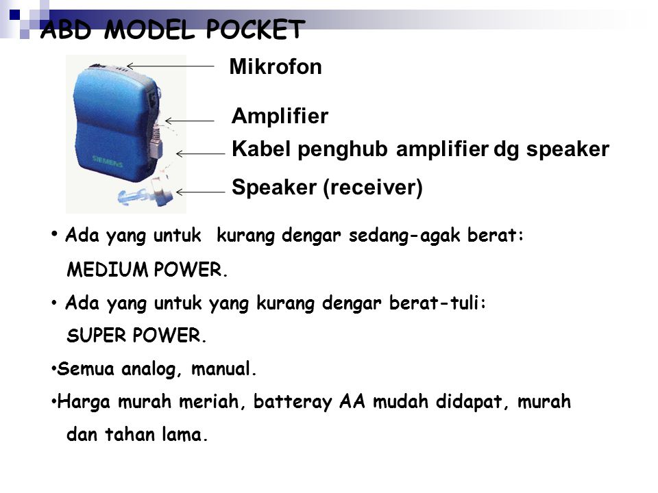ABD MODEL POCKET Mikrofon Amplifier Kabel penghub amplifier dg speaker
