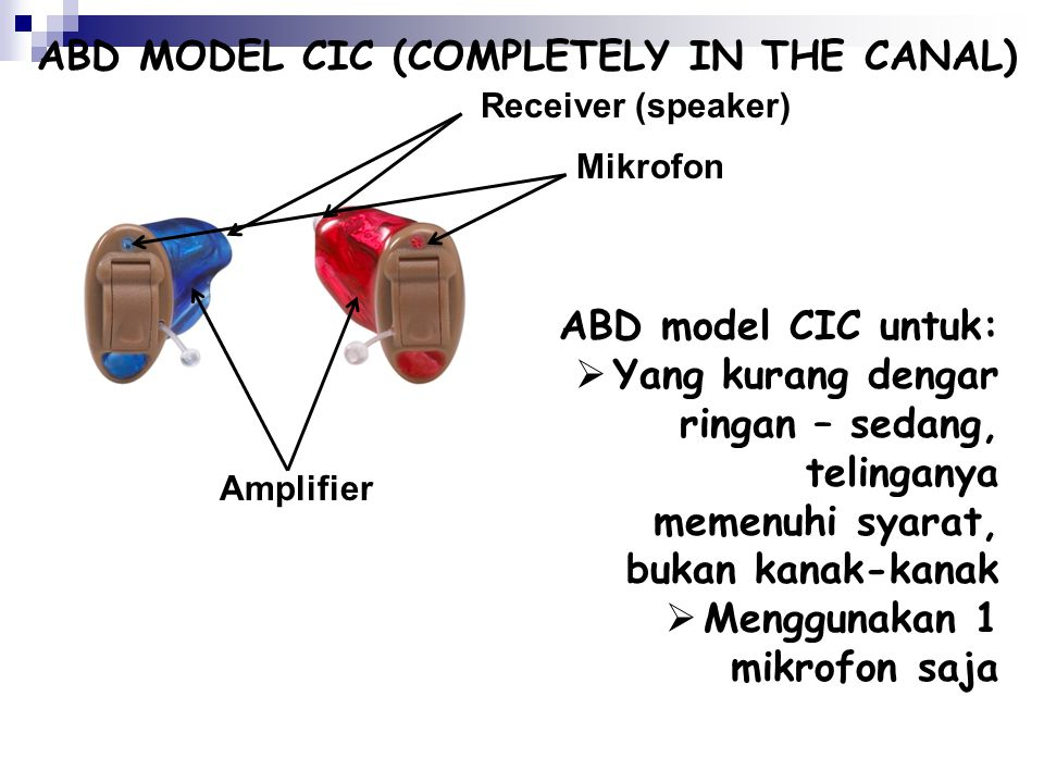 ABD MODEL CIC (COMPLETELY IN THE CANAL)