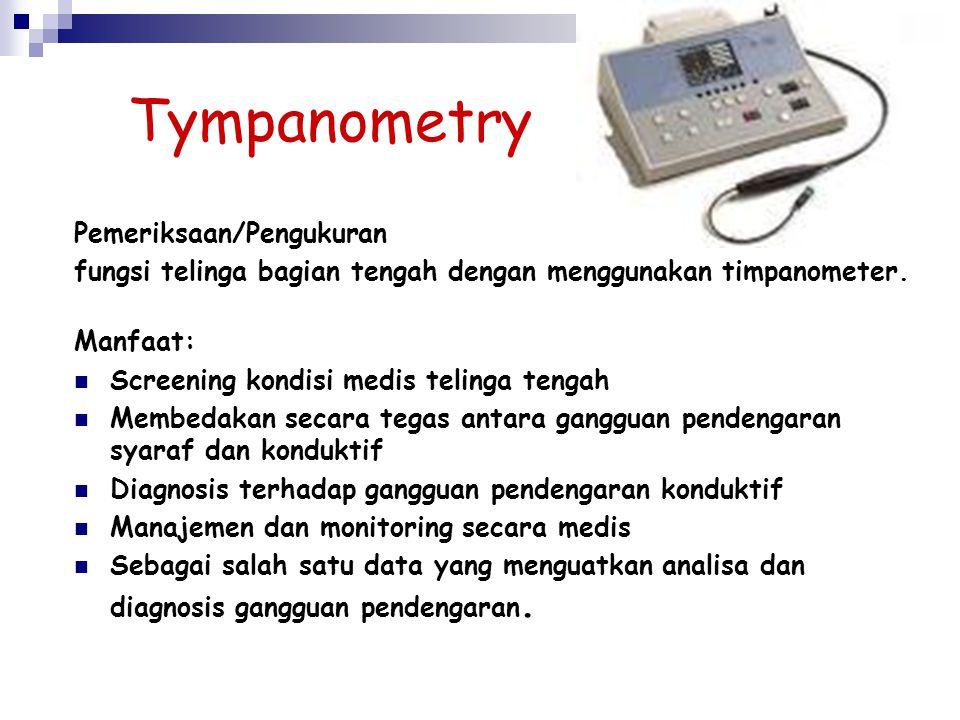 Tympanometry Pemeriksaan/Pengukuran