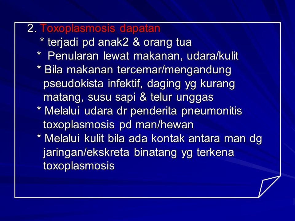 2. Toxoplasmosis dapatan