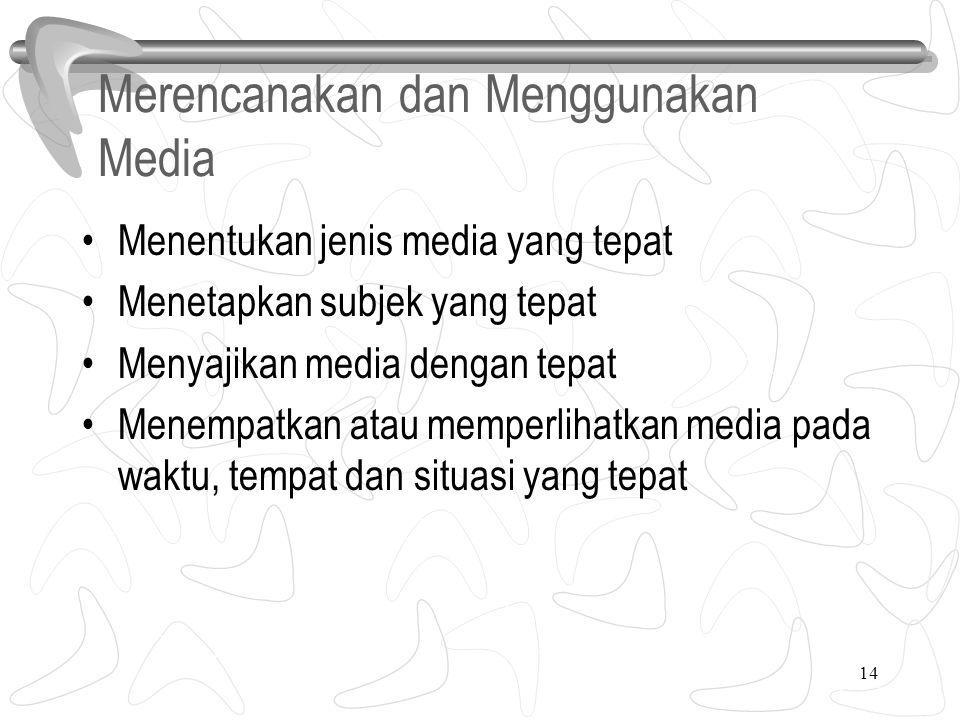 Merencanakan dan Menggunakan Media