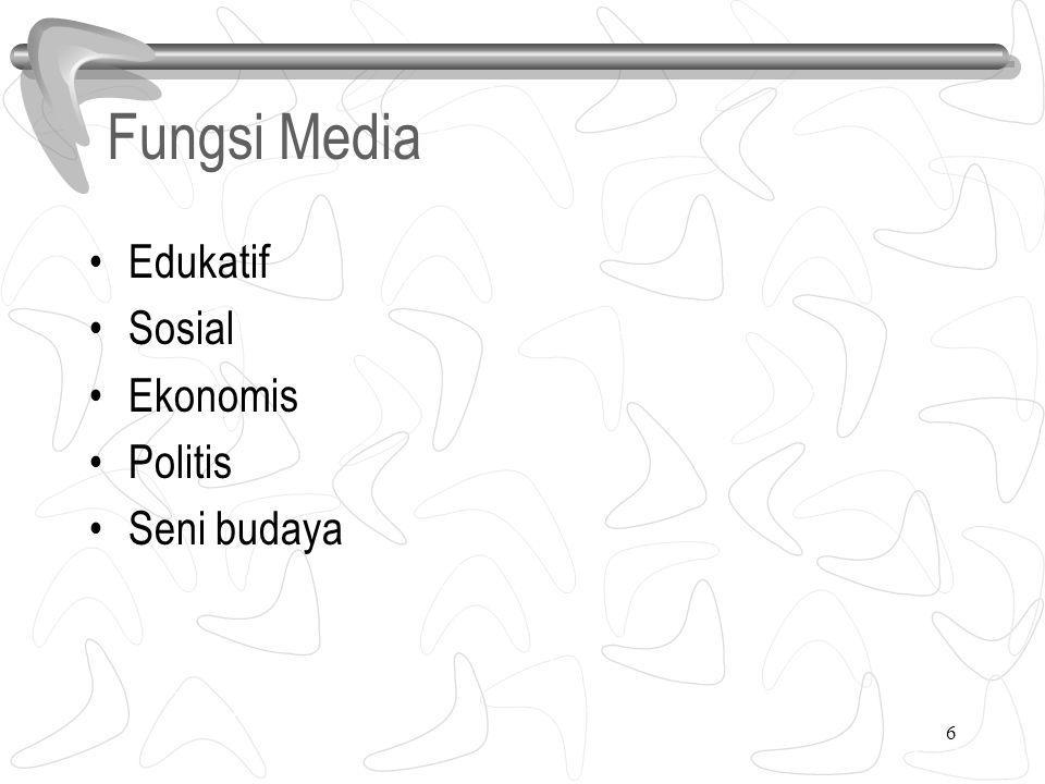 Fungsi Media Edukatif Sosial Ekonomis Politis Seni budaya