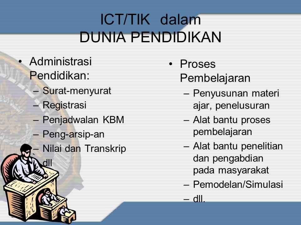 ICT/TIK dalam DUNIA PENDIDIKAN