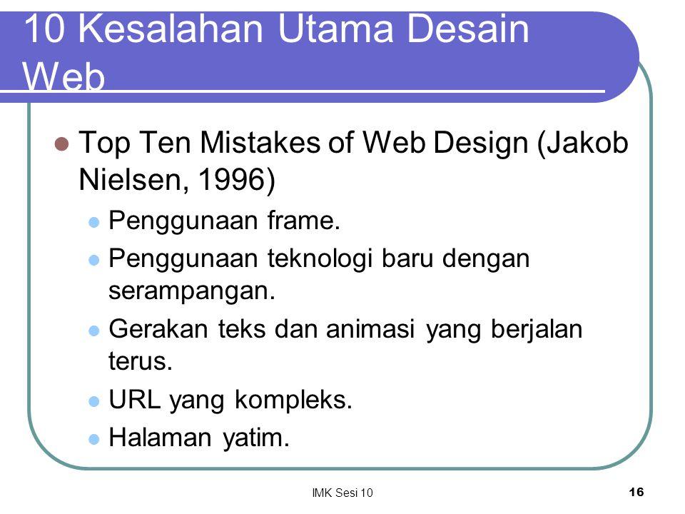 10 Kesalahan Utama Desain Web