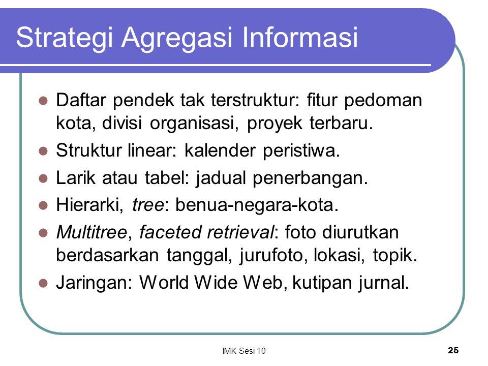 Strategi Agregasi Informasi