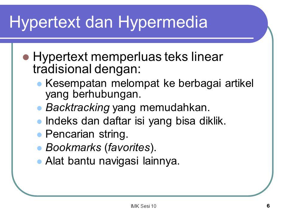 Hypertext dan Hypermedia