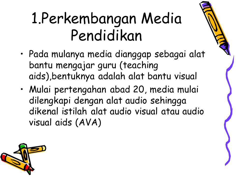 1.Perkembangan Media Pendidikan