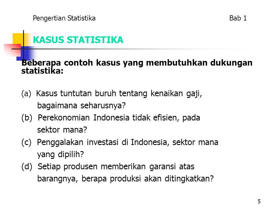 Pengertian Statistika Bab 1