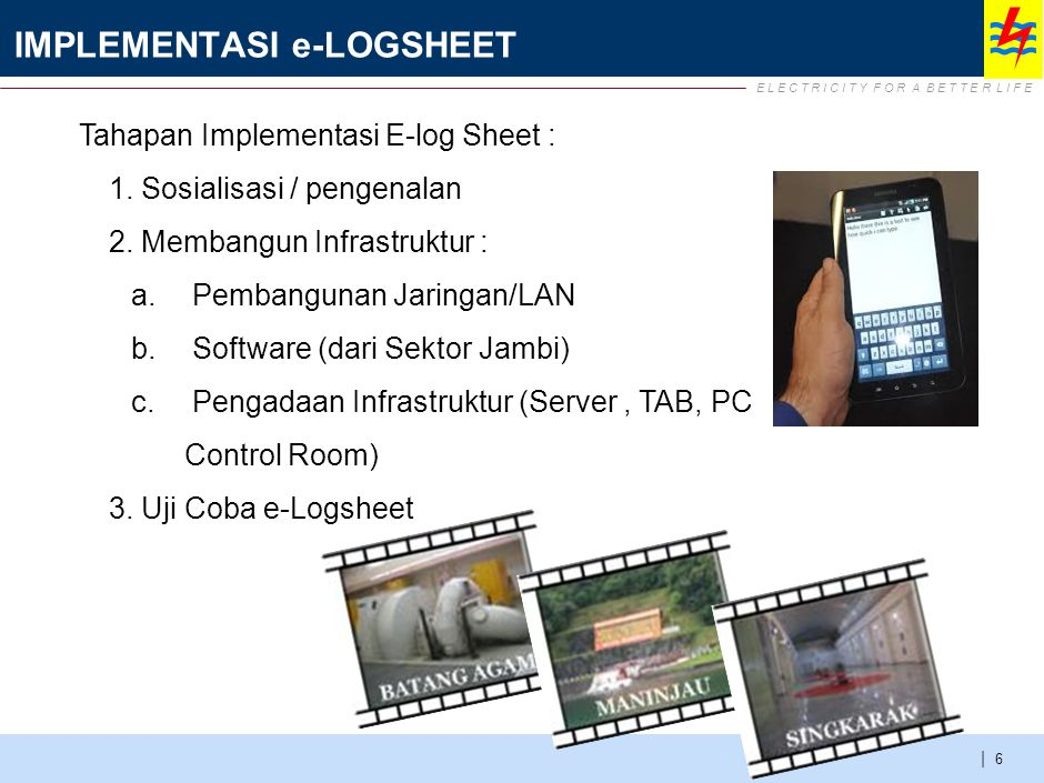 WORK PLAN IMPLEMENTASI e-LOGSHEET