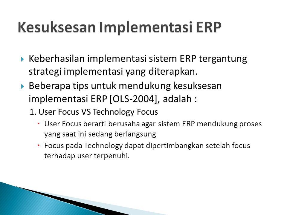 Kesuksesan Implementasi ERP