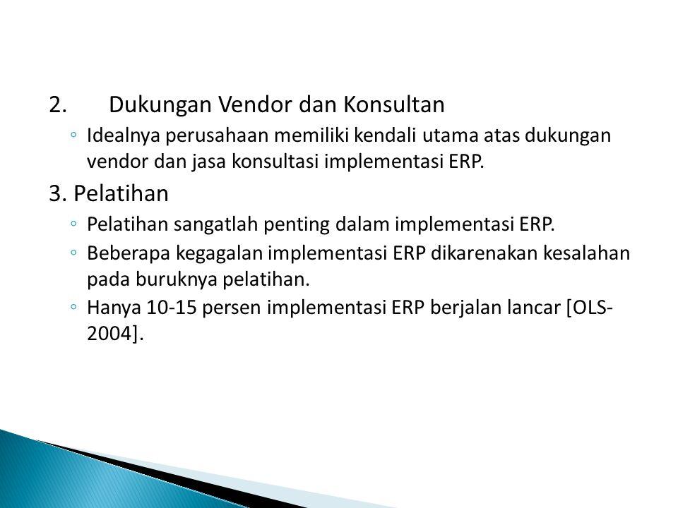 2. Dukungan Vendor dan Konsultan