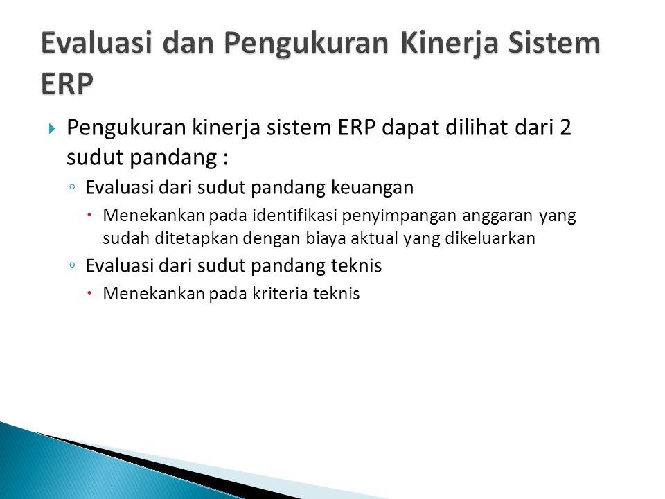 Evaluasi dan Pengukuran Kinerja Sistem ERP