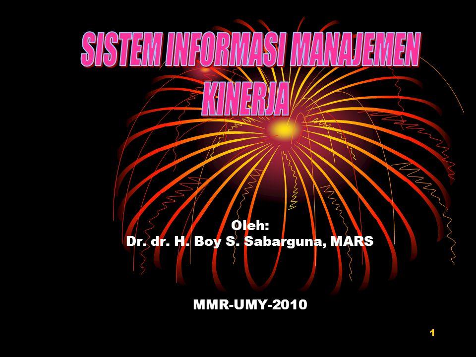 Oleh: Dr. dr. H. Boy S. Sabarguna, MARS MMR-UMY-2010