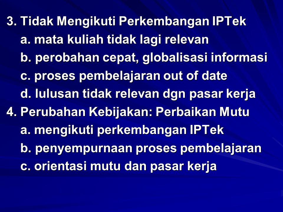 3. Tidak Mengikuti Perkembangan IPTek
