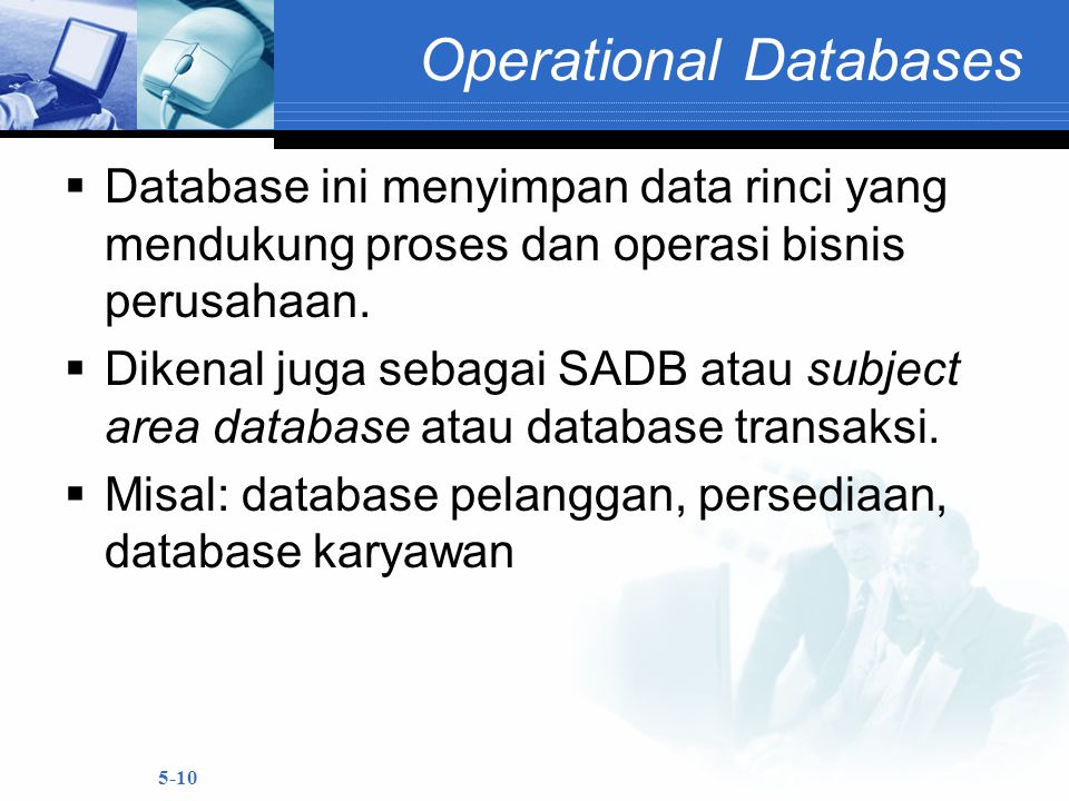 Operational Databases