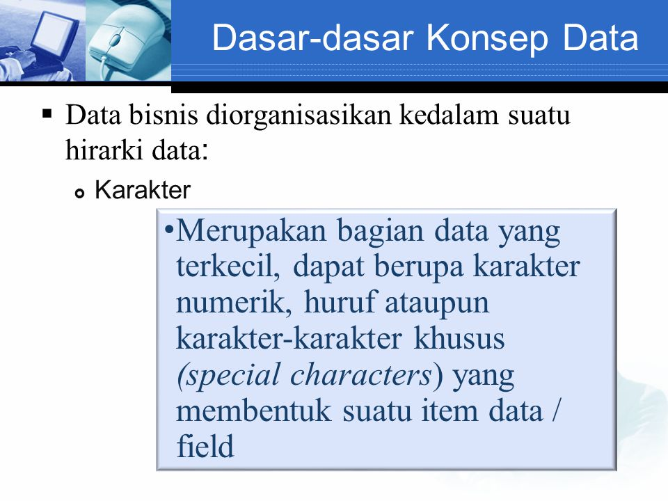 Dasar-dasar Konsep Data