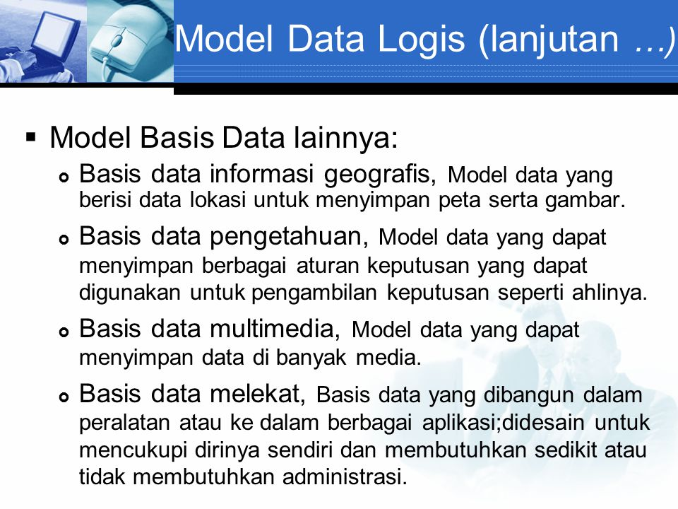Model Data Logis (lanjutan …)