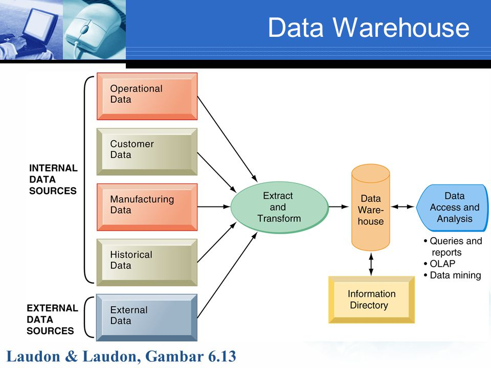 Data Warehouse Laudon & Laudon, Gambar 6.13