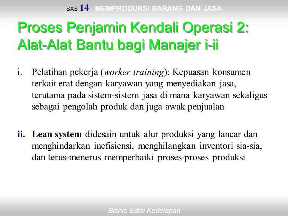 Proses Penjamin Kendali Operasi 2: Alat-Alat Bantu bagi Manajer i-ii