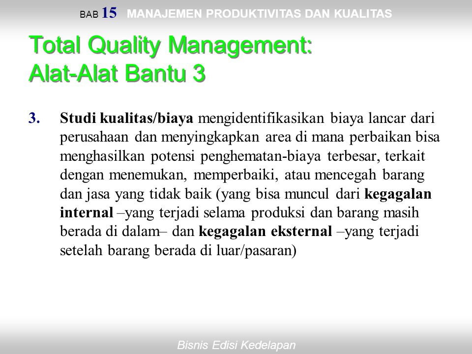 Total Quality Management: Alat-Alat Bantu 3