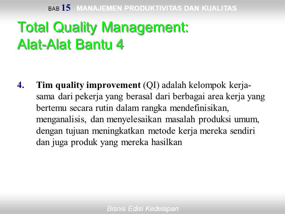 Total Quality Management: Alat-Alat Bantu 4