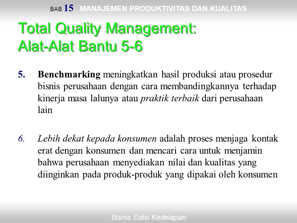 Total Quality Management: Alat-Alat Bantu 5-6