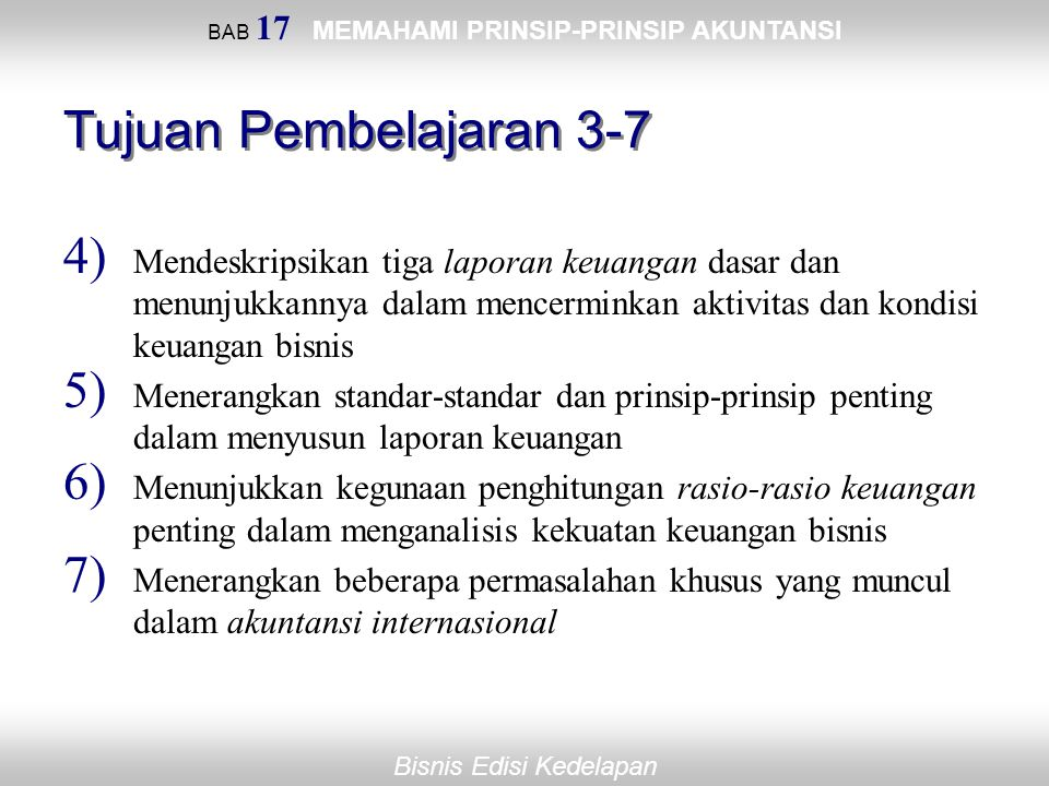 BAB 17 MEMAHAMI PRINSIP-PRINSIP AKUNTANSI