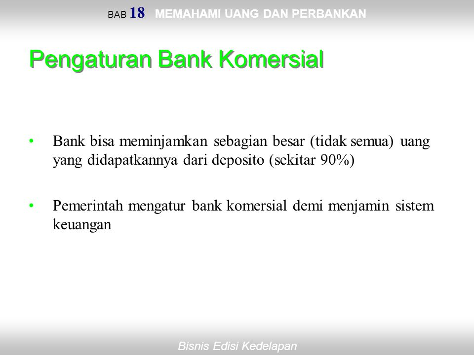 Pengaturan Bank Komersial