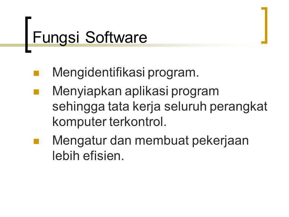 Fungsi Software Mengidentifikasi program.