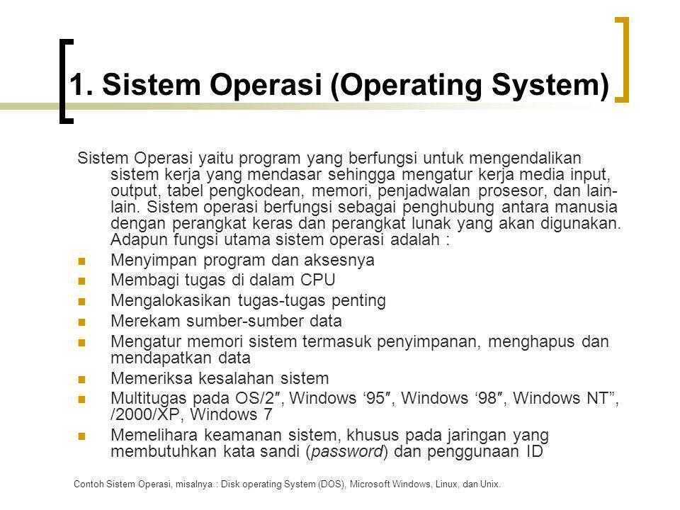 1. Sistem Operasi (Operating System)