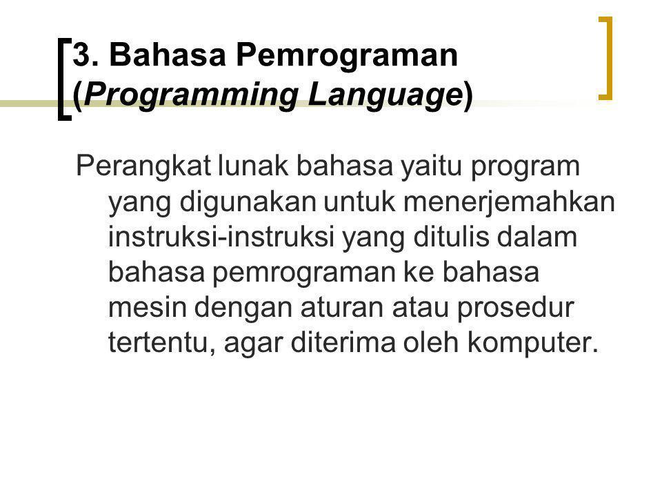 3. Bahasa Pemrograman (Programming Language)