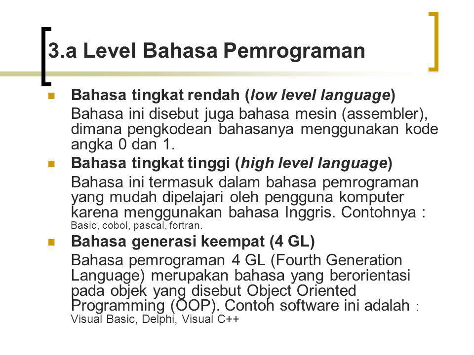 3.a Level Bahasa Pemrograman