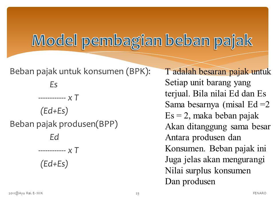 Model pembagian beban pajak
