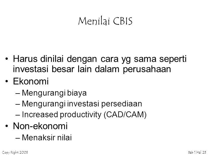 Menilai CBIS Harus dinilai dengan cara yg sama seperti investasi besar lain dalam perusahaan. Ekonomi.