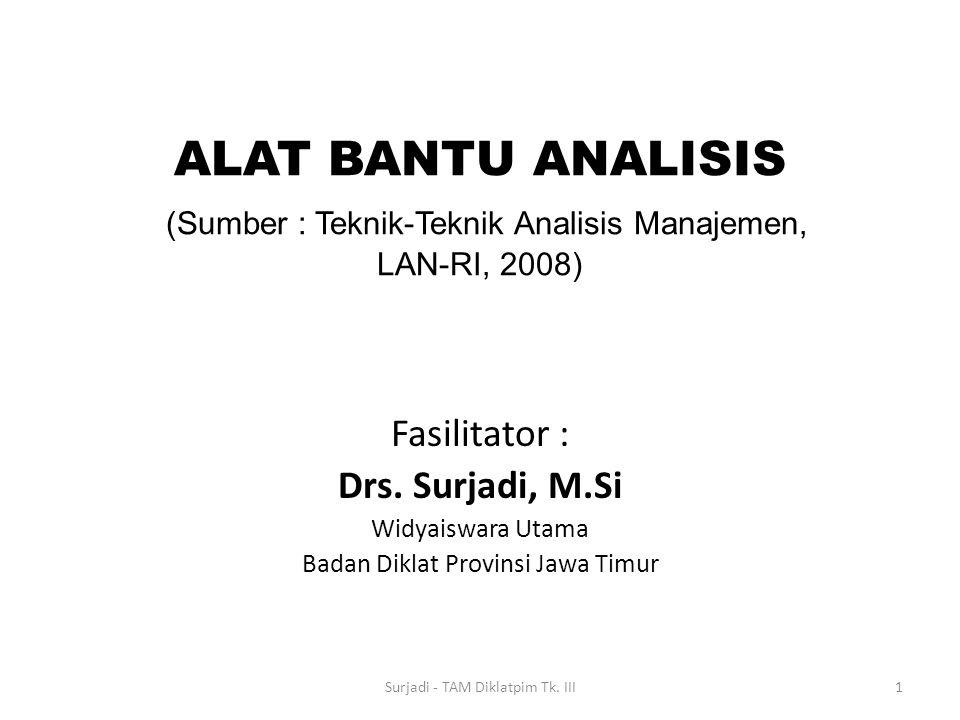 ALAT BANTU ANALISIS (Sumber : Teknik-Teknik Analisis Manajemen, LAN-RI, 2008)