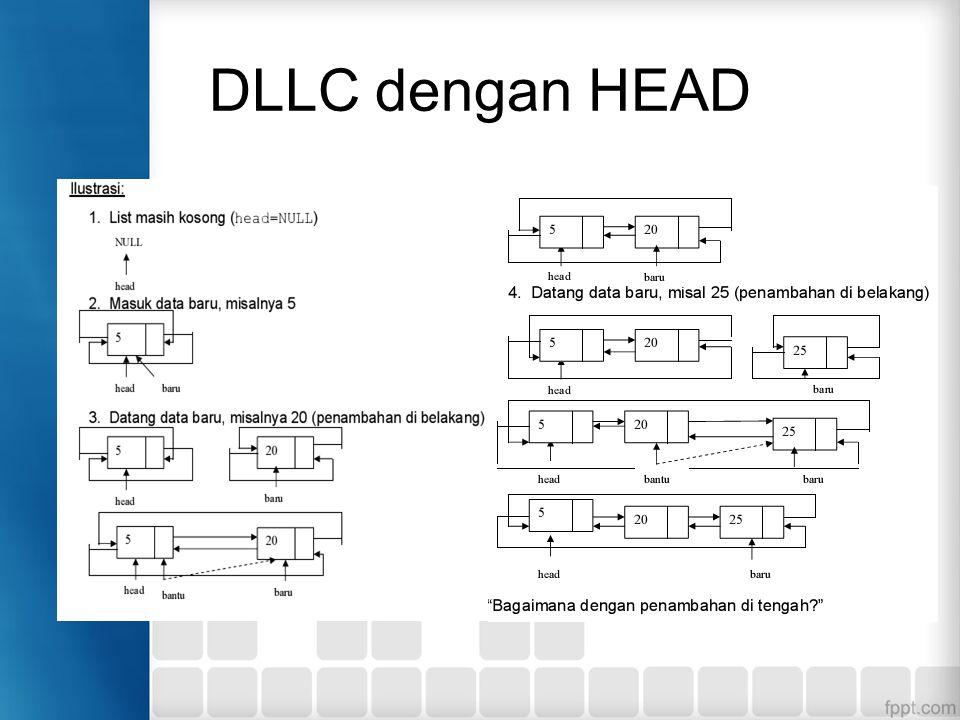 DLLC dengan HEAD