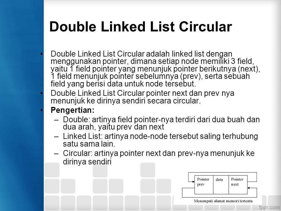 Double Linked List Circular