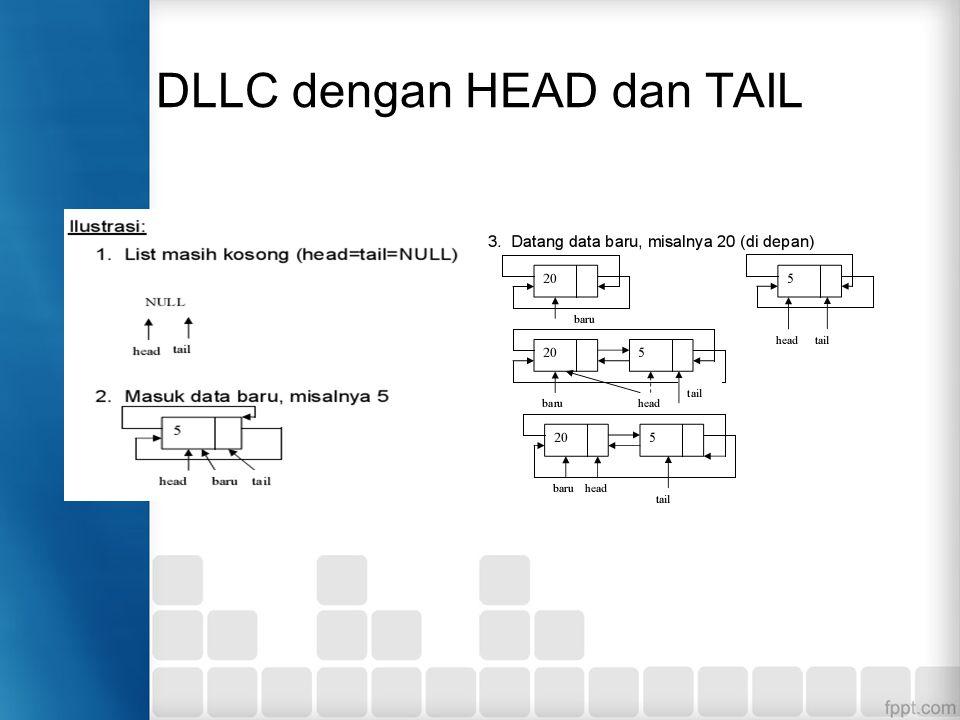DLLC dengan HEAD dan TAIL