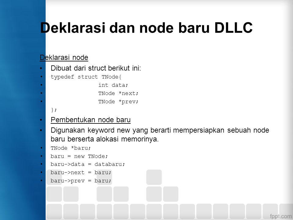 Deklarasi dan node baru DLLC