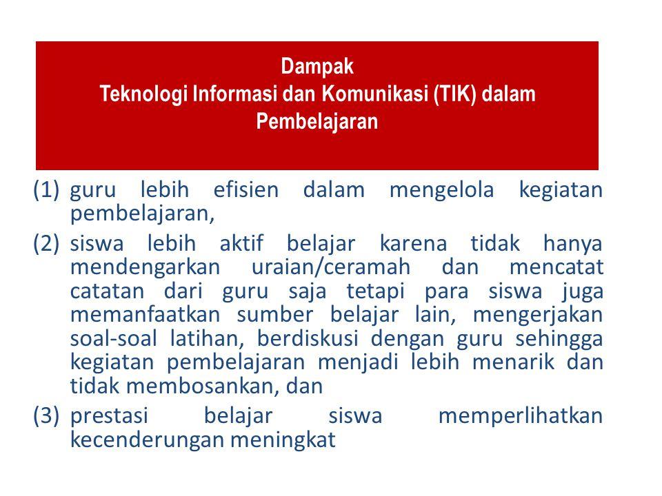 Dampak Teknologi Informasi dan Komunikasi (TIK) dalam Pembelajaran