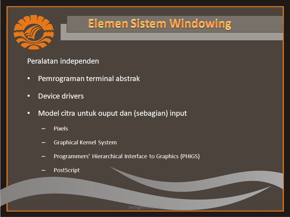 Elemen Sistem Windowing