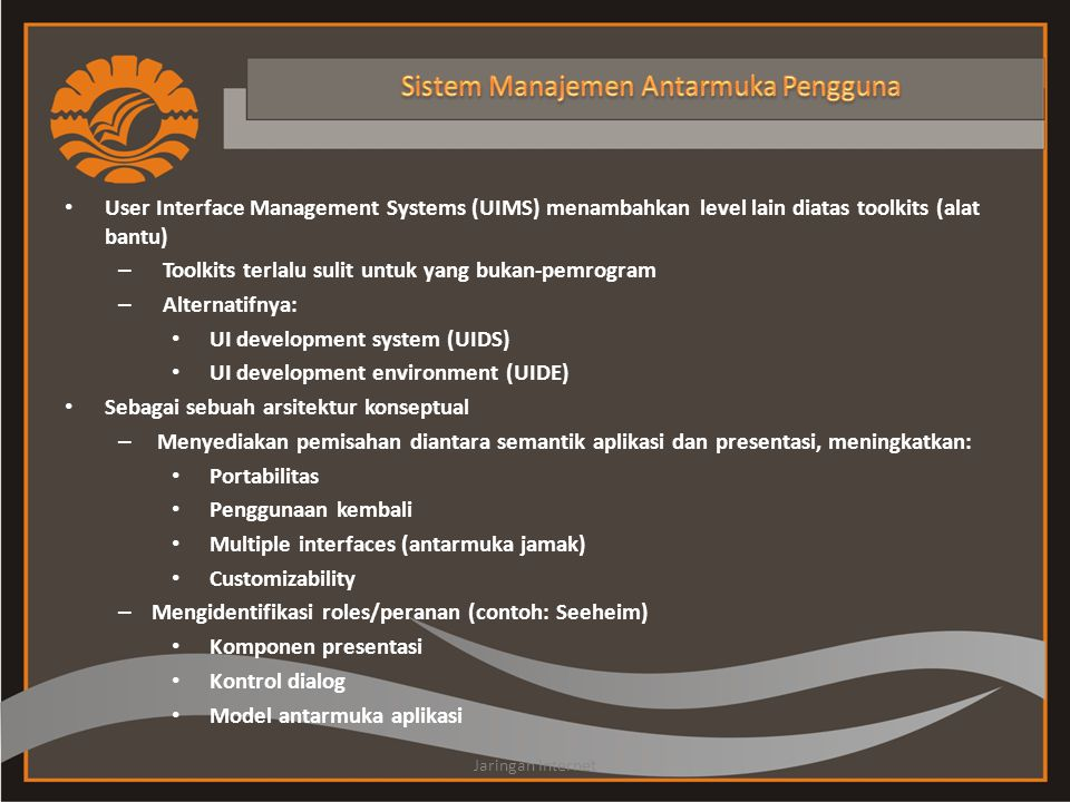 Sistem Manajemen Antarmuka Pengguna