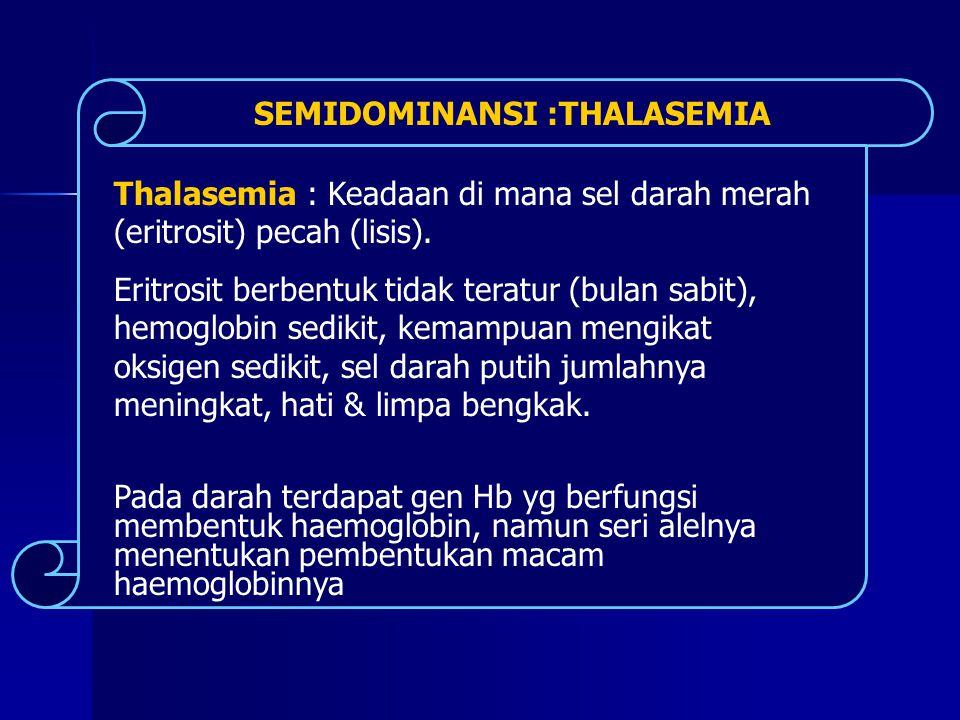 SEMIDOMINANSI :THALASEMIA